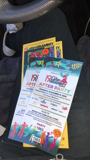 Latin Grammy tickets. for Sale in Las Vegas, NV