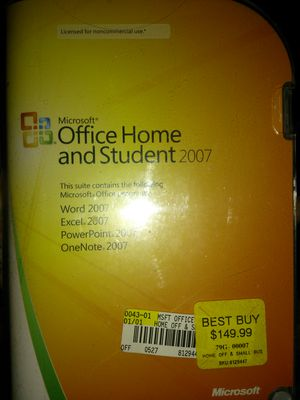 Microsoft Office home and student 2007 for Sale in Taylorsville, UT
