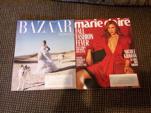 Marie Claire Harpers Bazaar Oct 2018..never read..will cover up mailing label before mailing.. for Sale in Madison Heights, VA