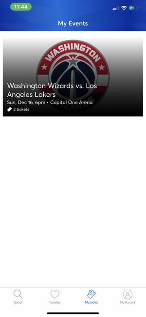Wizards vs Lakers Games for Sale in Washington, DC