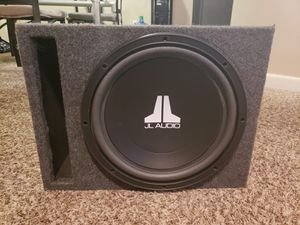 "Photo Subwoofer 12"" JL AUDIO W3 500 Watts 2 ohms. Like a New"