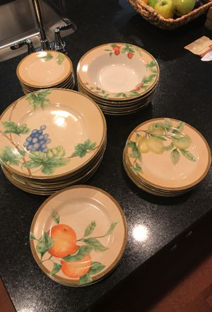 Everyday dishes, genuine stoneware, dishwasher and microwave safe for Sale in Ashburn, VA