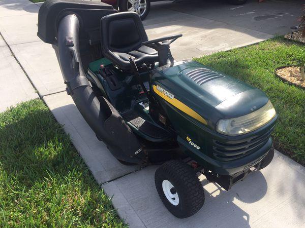 Craftsman Lt1000 Riding Mower >> Craftsman Lt1000 Riding Lawnmower For Sale In Clermont Fl Offerup