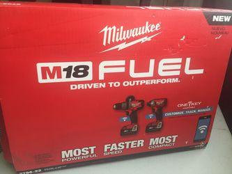 Milwaukee New M18 FUEL KIT ONE KEY ( BLUETOOTH ) Kit Nuevo De Dos Herramientas Con Bluetooth Thumbnail