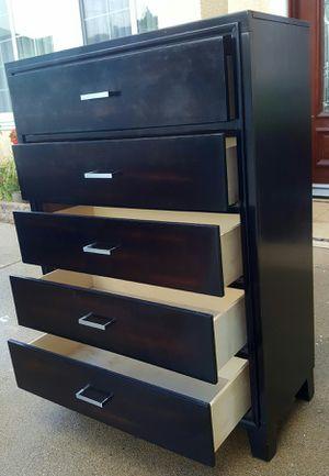 Photo Beautiful SOLID WOOD 5 Drawers Dresser Clothes Storage Chest Organizer Stand Unit Wardrobe