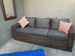 Wicker sofa very comfortable for Sale in Santa Ana, CA