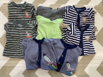 Newborn Twin Bundle w/3 sets of PJ's & specialty Dino outfits Thumbnail