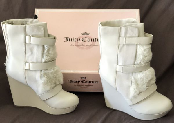 f044ec1670d0 JUICY COUTURE FUZZY WEDGE BOOTS CHEAP! for Sale in Ontario ...