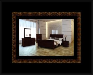 11pc Louis Phillipe bedroom set with mattress for Sale in Adelphi, MD