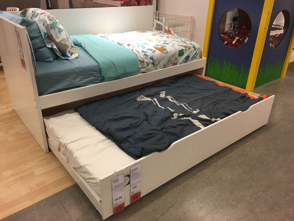 flaxa sänky IKEA FLAXA twin bed + pull out bed, daybed, guest bed for Sale in  flaxa sänky