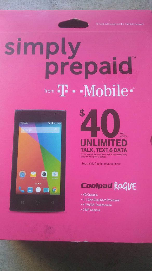 T-Mobile Coolpad Rogue smartphone for Sale in Perris, CA - OfferUp