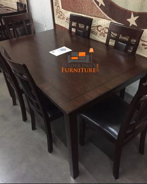 Brand New 7 Piece Wood Dining Set for Sale in Silver Spring, MD