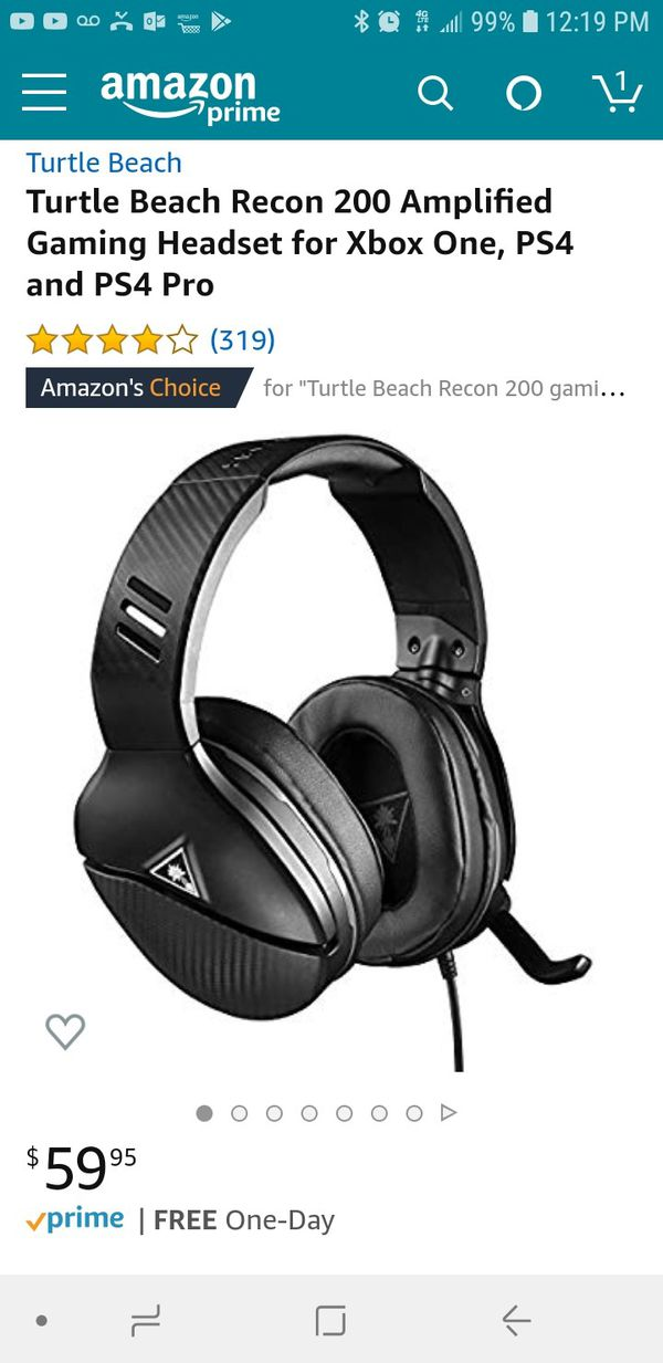 Turtle Beach Recon 200 xbox one and ps4 gaming headset for Sale in High  Point, NC - OfferUp
