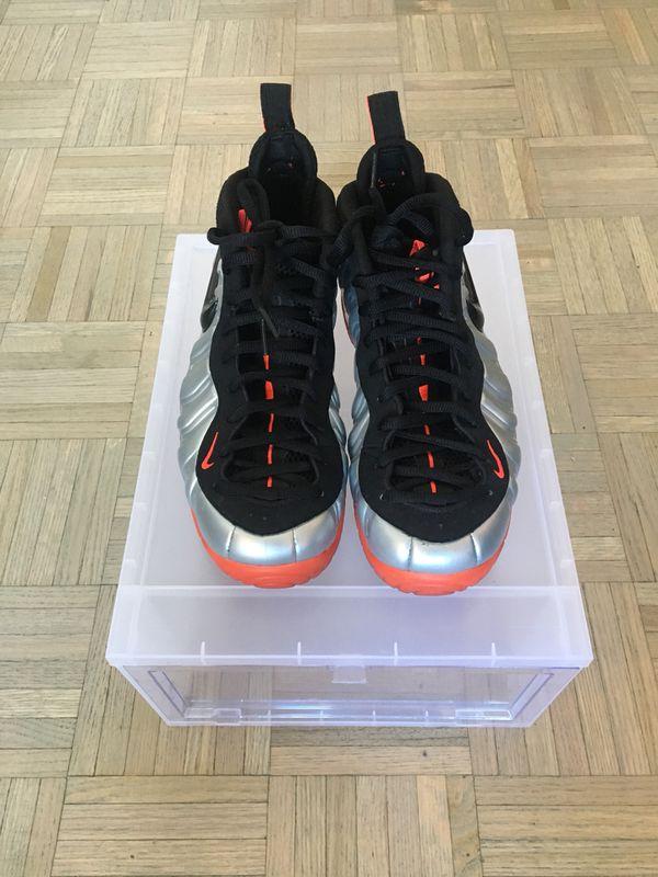 """4b68d9323d0 Nike Air Foamposite Pro """"Crimson"""" Size 10 w  Clear Shoe DropBox for ..."""