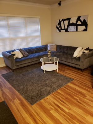 Suede sectional sofa/couch for Sale in Washington, DC