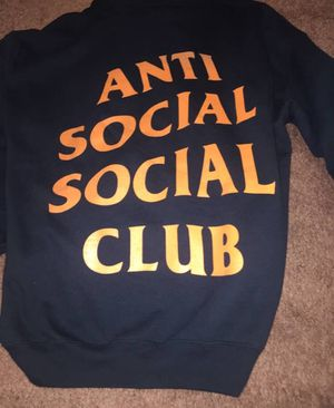 Anti social social club hoodie size medium fits like small for Sale in Lorton, VA