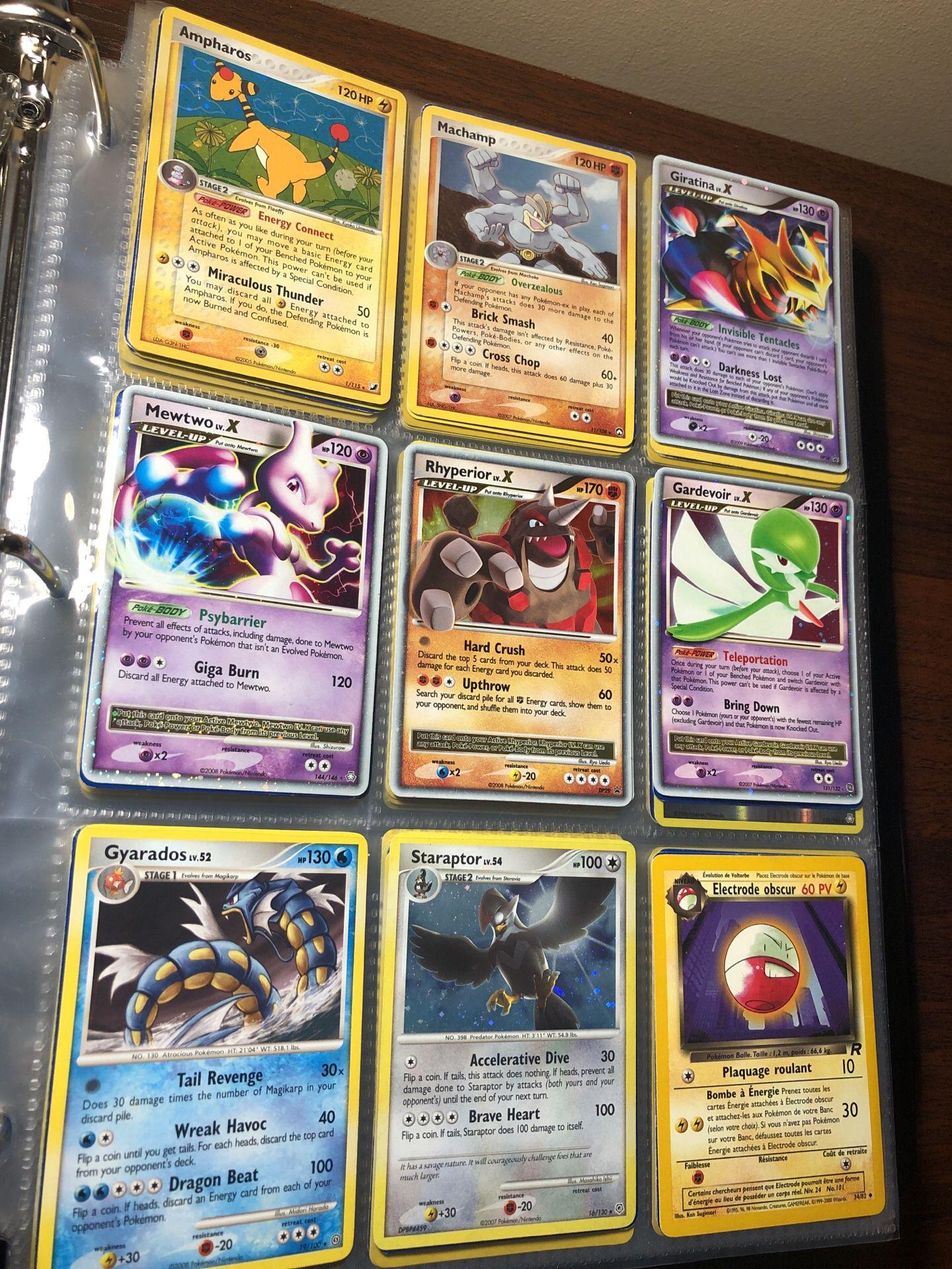 (Not sold as lot - sold by page) Pokemon vintage Pokémon cards