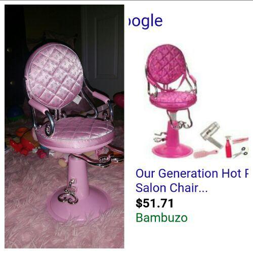 Salon chair for dolls