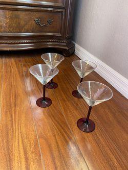 Martini Glass Cups set of 4 Thumbnail