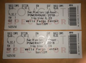 NO LOW BALLING***floor seats 5th row seat 5 & 6.. for Sale in Philadelphia, PA