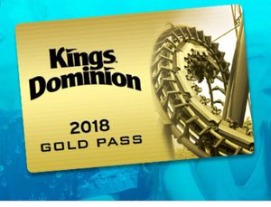 Kings Dominion Gold Pass for Sale in Dale City, VA
