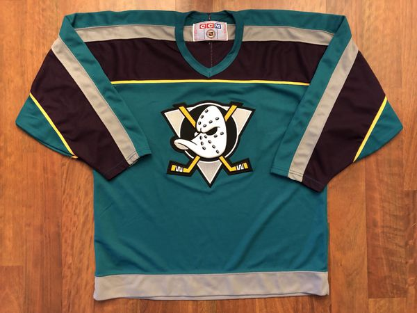 Vintage CCM Anaheim Mighty Ducks Alternate Home Jersey Men s Size Large 8ad49b26ba3b