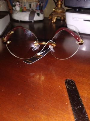 Cartier mens clear round glasses for Sale in Cleveland, OH