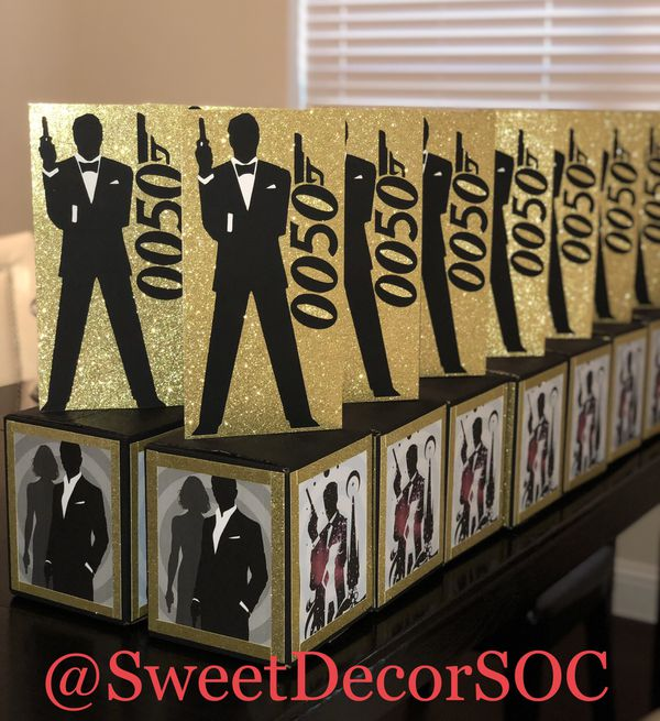 James Bond Birthday Party Centerpieces For Sale In Dallas Tx Offerup