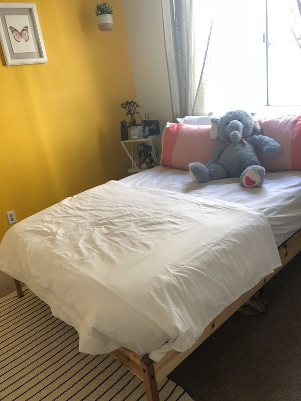 IKEA Tarva Bed Frame + Full Size Mattress! $75 each for Sale in Los ...