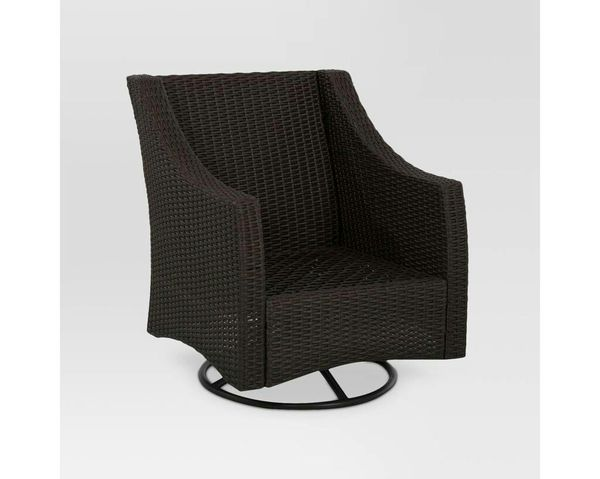 96b549f8a32 Belvedere Wicker Patio Swivel Club Chair - Frame Only - Threshold™ by Target  for Sale in Houston