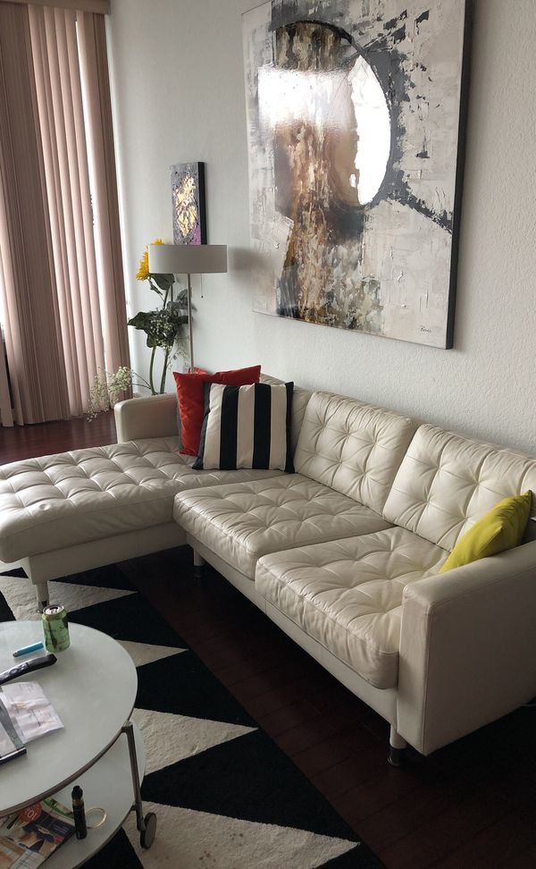 Luxury modern design , Italian white leather sofa furniture ... Happy  Christmas gift for Sale in Orlando, FL - OfferUp