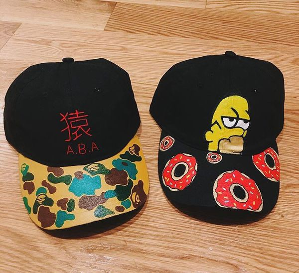 Custom hand painted dad hats ! for Sale in Brooklyn e99691badf0