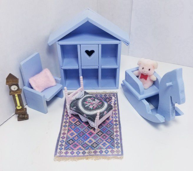 Dollhouse Miniature Baby Room Furniture & Accessories