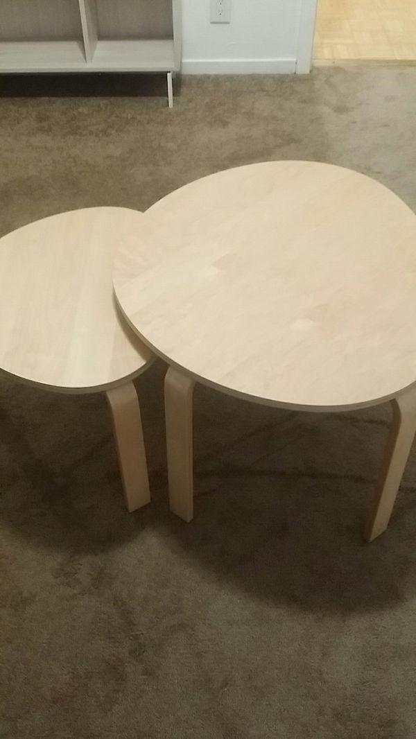 Set Of 2 Nesting Tables Ikea Svalsa