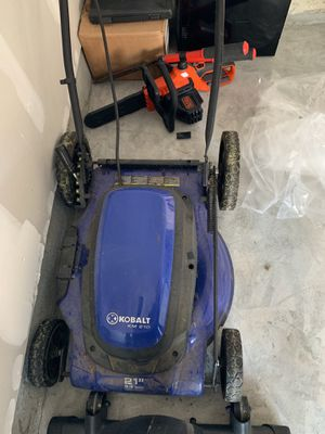 Lawn mower and chainsaw both work for Sale in Frederick, MD