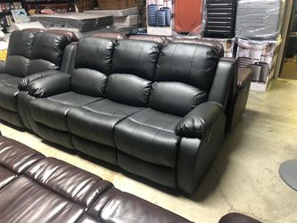 Leather Sofa And Loveseat Recliner  Thumbnail