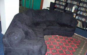New black L-shaped or round sofa microfiber for Sale in Clifton, VA
