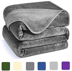 Luxury Fleece Blanket,350GSM Blankets Super Soft Warm Thick Blanket for Home Bed Blankets Queen Size, Dark Grey 90×90 in for Sale in New York, NY