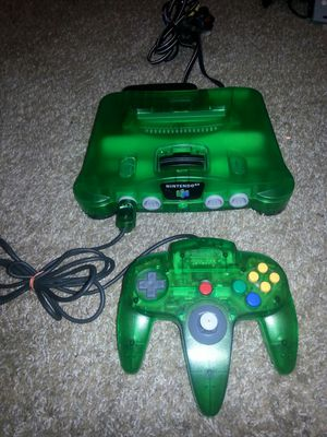 Jungle Green N64 w matching controller for Sale in Portland, OR