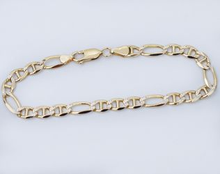 """14K Gold 6mm Gucci Paved Link Chain Bracelet, 8"""" in Length and Only $465 Thumbnail"""