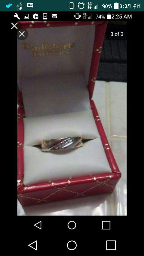 Mens wedding band with diamonds across