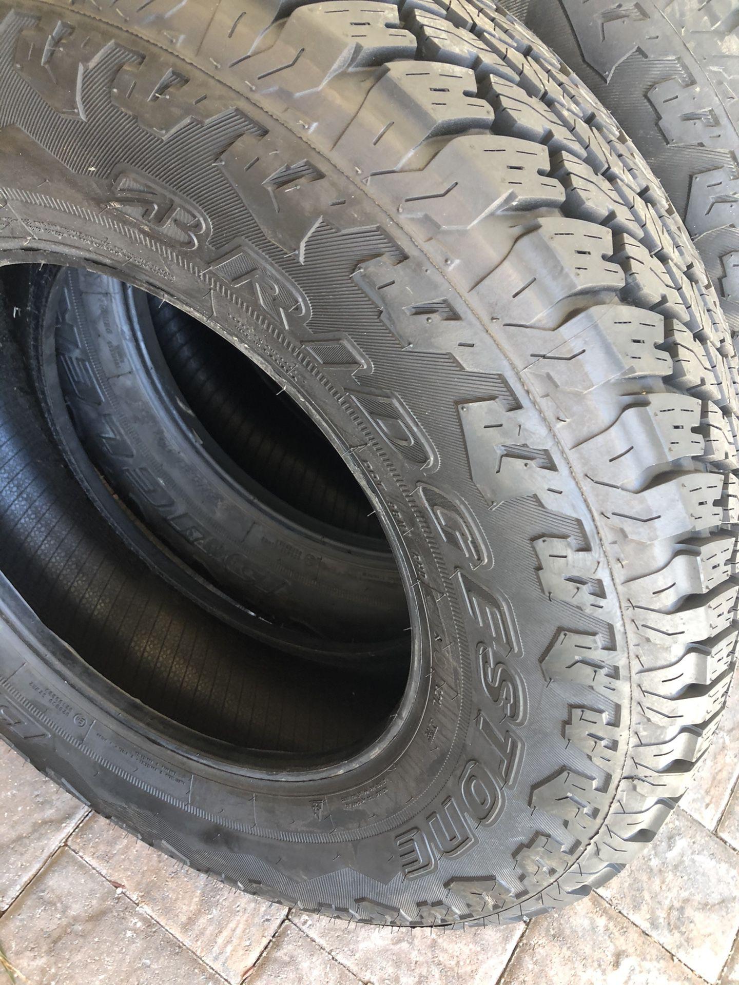 (2) Bridgestone Dueler  245/75/17 year 2021