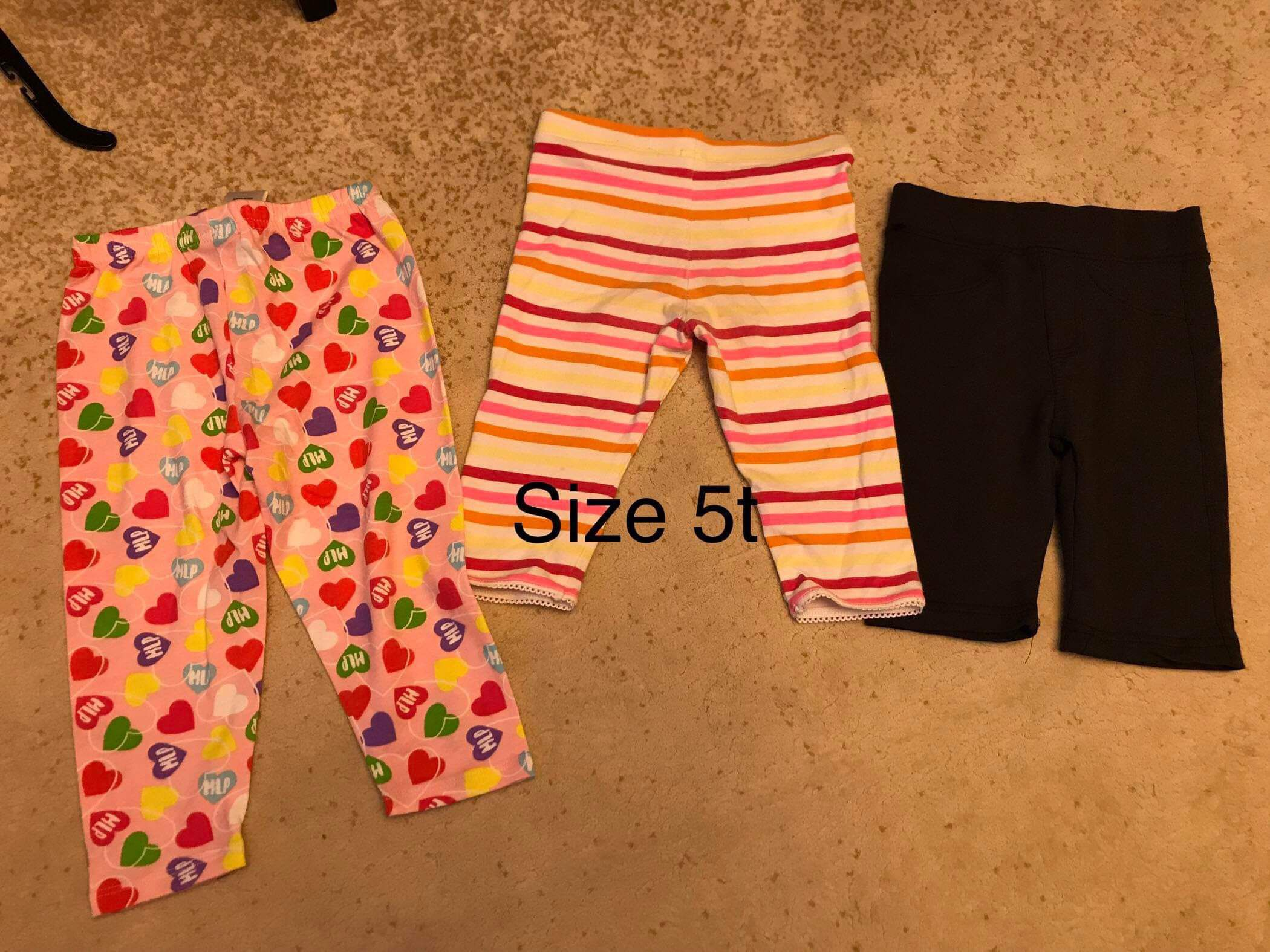 3pc shorts size 5t girl