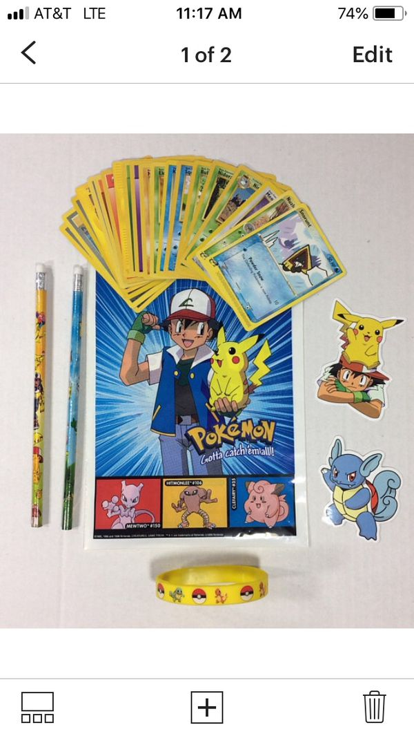 Pokemon Birthday Party Favors Gift Bags Games Toys In Clovis CA