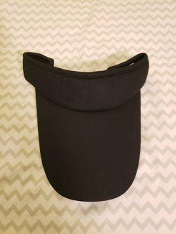 Black long visor hat Thumbnail