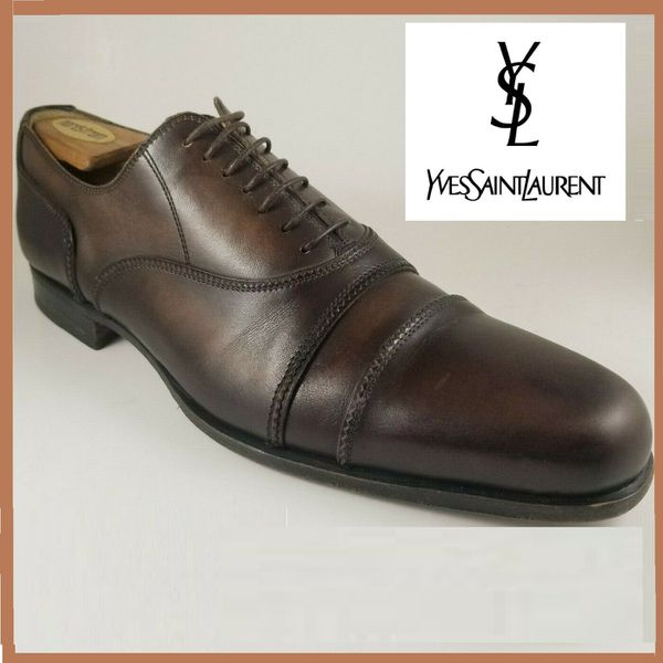 dda9dba6ae YSL Yves Saint Laurent Brown Double Captoe Leather Dress Shoes 10.5 M  luxury fashion Mens oxford italian shoes for Sale in Acworth, GA - OfferUp