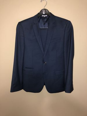Navy Blue Express Fitted suit Blazer 40 Regular Pants 33/30 for Sale in Adelphi, MD