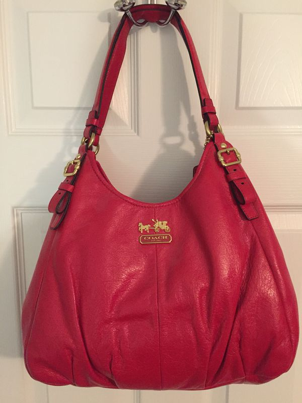 5d4442367f Madison Red Leather Coach Handbag for Sale in Charlotte