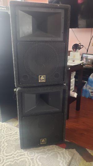 Photo 2 speakers 15 bullfrog good sound 160 or OBO