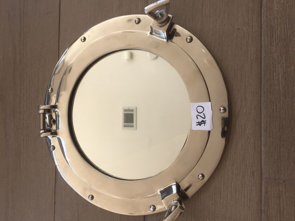 Chrome Decorative Ship Porthole Mirror 12 For Sale In